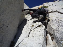 Rock Climbing Photo: 4th class approach 3rd Pillar