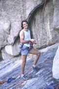 Rock Climbing Photo: Doug Heinrich belaying on Frozen Stool, sometime i...