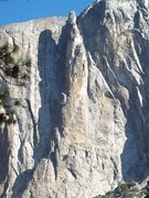 Rock Climbing Photo: The Lost Arrow Spire.  The Chimney ascends the gro...