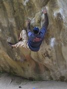Rock Climbing Photo: START MOVES OF THE CRACK-V3 VERSION/B1 BOULDER.