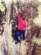 Rock Climbing Photo: Here's the 2nd shot of the series. Hard move. Sorr...