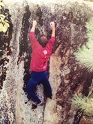 Rock Climbing Photo: 3rd shot. Bring your right hand up to what you ori...