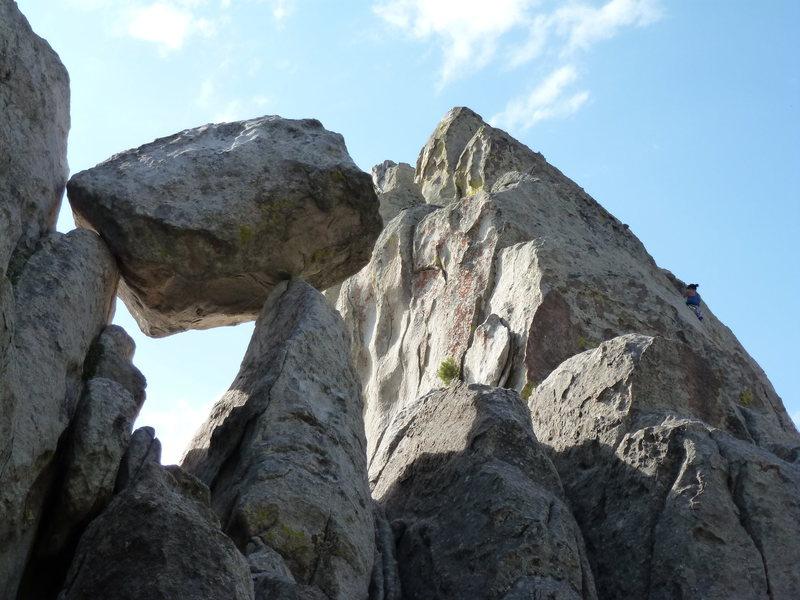 Rock Climbing Photo: Precarious