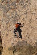 Rock Climbing Photo: J. Smith leading Yasmine Bleeth