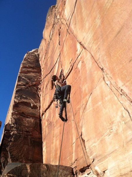 Rock Climbing Photo: Working the beginning of the route for the FFFA