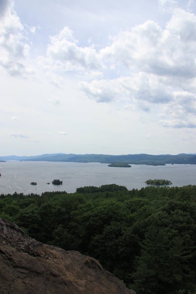 Rock Climbing Photo: View of Lake George (overlooking Log Bay) from the...