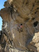 Rock Climbing Photo: Long reach but you have good feet. I feel that thi...