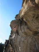 Rock Climbing Photo: Shouldery cross over move to get here. Then using ...