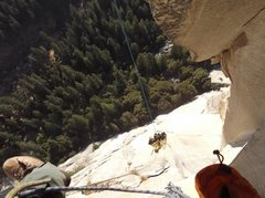 Rock Climbing Photo: Hauling from P7.  P6 and P7 combine for one haul. ...