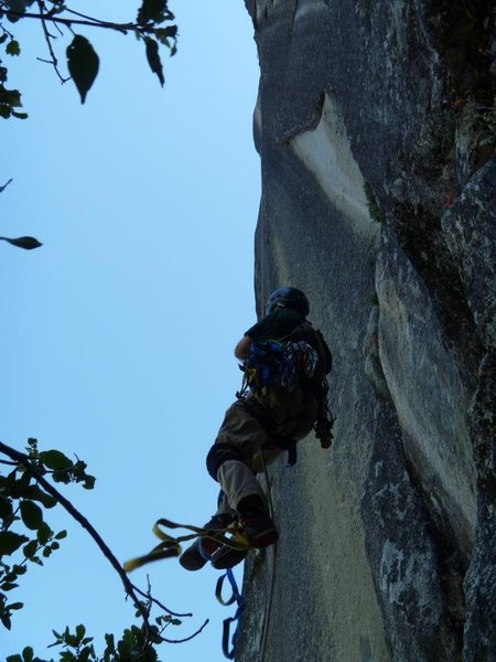 Rock Climbing Photo: This is the start, the bolt ladder moves up and le...