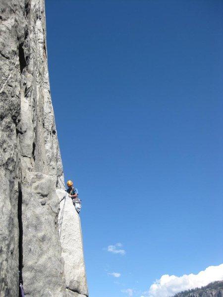 Rock Climbing Photo: E. Butt - Way Steep Mental Crux