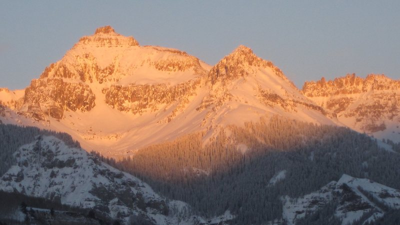 Rock Climbing Photo: Dallas Peak at sunset, December, 2012.