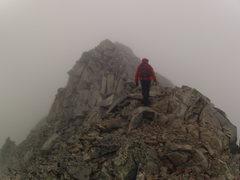 Rock Climbing Photo: Walking off into the mist near K-2