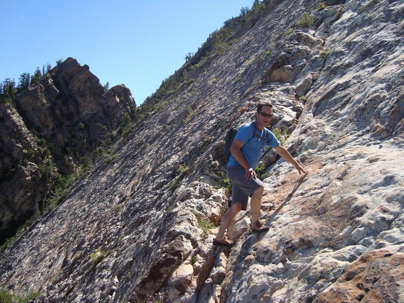 Mt. Olympus slab climbing