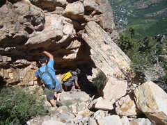 Rock Climbing Photo: Downclimb Gully