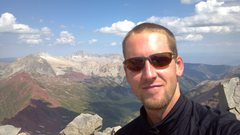 Rock Climbing Photo: Me on the summit with Capitol and Snowmass in the ...