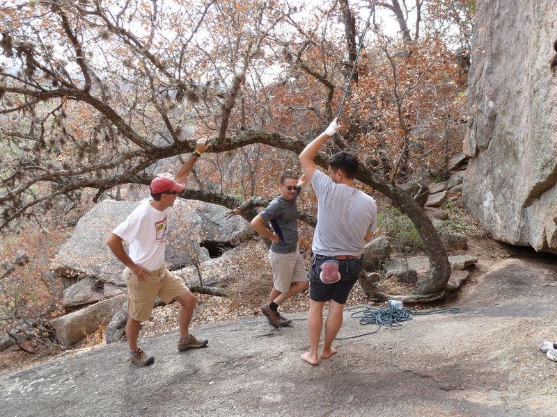 Rock Climbing Photo: AJ, David Cain, Scott Hinton