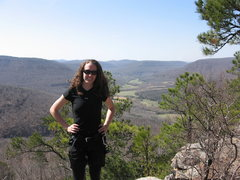 Rock Climbing Photo: Vanessa at Sam's Throne, Arkansas