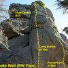 Gunsmoke Wall (NW Face), Holcomb Valley Pinnacles
