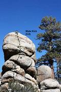 Rock Climbing Photo: Mule Kick (5.8), Holcomb Valley Pinnacles