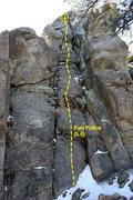 Rock Climbing Photo: Fun Police (5.6), Holcomb Valley Pinnacles