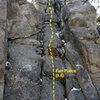 Fun Police (5.6), Holcomb Valley Pinnacles
