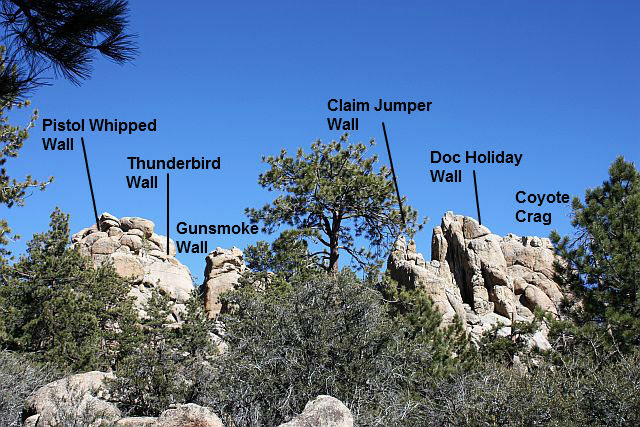 Rock Climbing Photo: Central Pinnacles from the west, Holcomb Valley Pi...