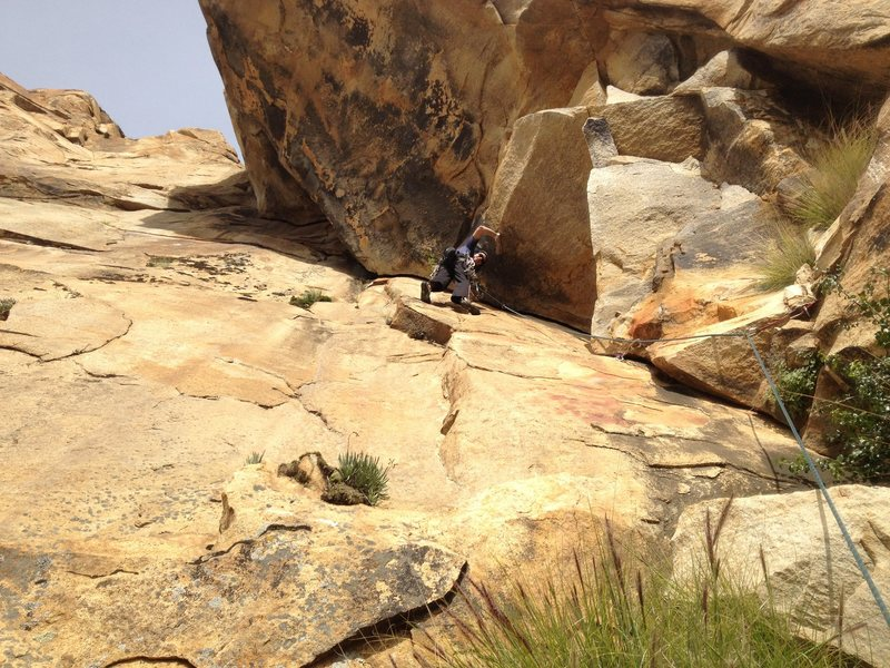 Rock Climbing Photo: Before the tough sections of Crackamite.  You can ...