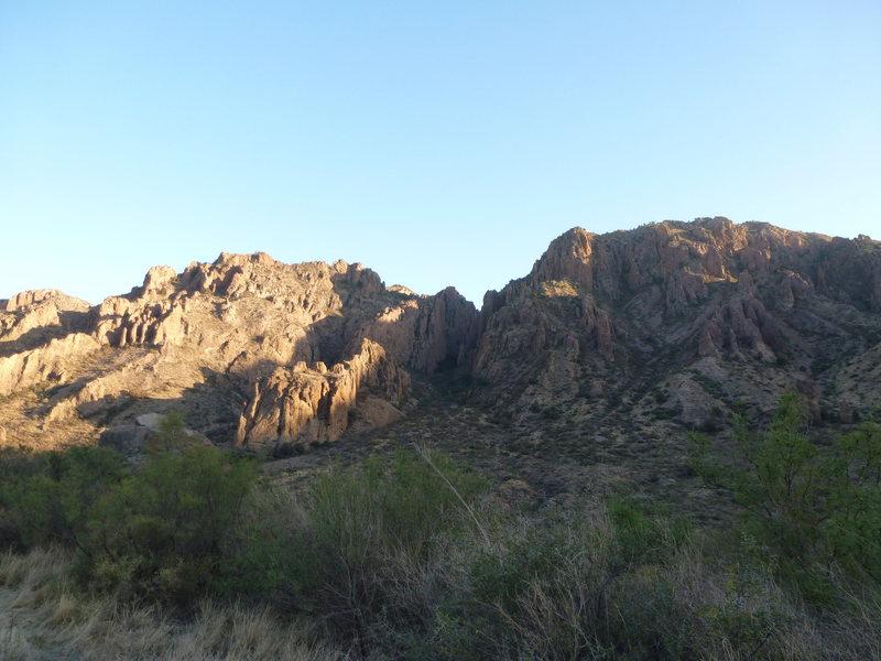 Rock Climbing Photo: sunrise chisos basin