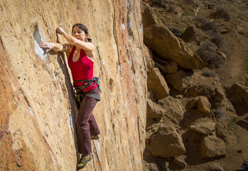 Rock Climbing Photo: The crux.  Photo by Nathan Gerhardt