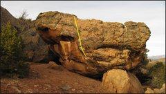 Rock Climbing Photo: Winter Facing Spring beta.