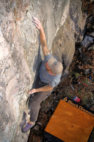 Rock Climbing Photo: Grey working out the kinks to a nice and heightene...