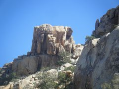 Rock Climbing Photo: The route, taken west of the formation.