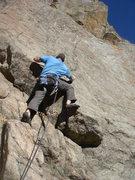 Rock Climbing Photo: Donny leading Where's Ray?