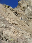 Rock Climbing Photo: Ben and Eva on the second pitch.