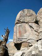 Rock Climbing Photo: Reticent Arete (5.12b), Holcomb Valley Pinnacles