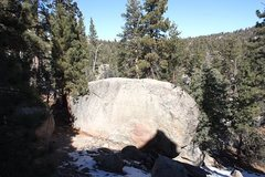 Rock Climbing Photo: West face of the Bonsai Boulder, Holcomb Valley Pi...