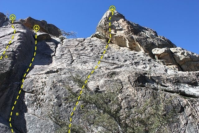 Motherlode Rock (East Face Center), Holcomb Valley Pinnacles