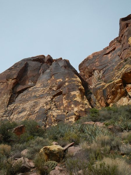 Rock Climbing Photo: The route climbs up the center of the photo.