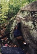 Rock Climbing Photo: V3 left of Solar Sail at Mount Gretna early 2000's