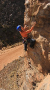 Rock Climbing Photo: Starting some more 5.10 steep stuff near the top G...