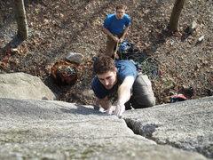 Rock Climbing Photo: Byron enjoying the bomber fingers on the center cr...
