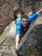 Rock Climbing Photo: Zach checking out the corner