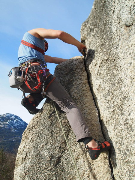 Rock Climbing Photo: Mark wrapping things up