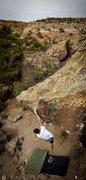 Rock Climbing Photo: Vaughn on Mario Andretti finish