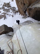 Rock Climbing Photo: Rest ledge between two short pillar/steeper flows....
