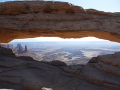 Rock Climbing Photo: Mesa Arch, Canyonlands N.P.
