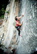 Rock Climbing Photo: Alan Watts near the end of the Stigma. Photo by Je...