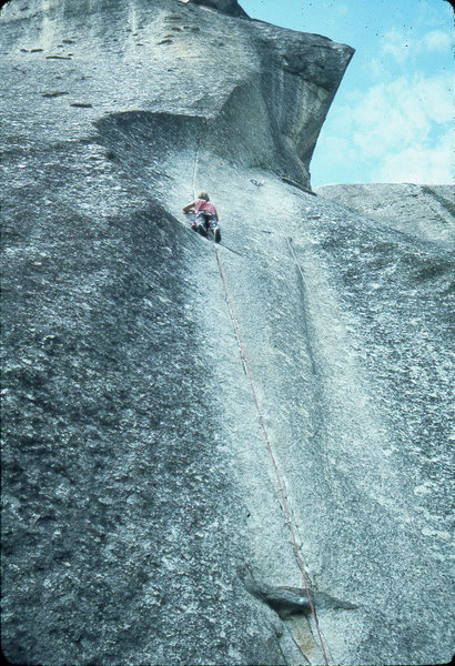 Alan Watts on the second ascent of The Stigma. Photo by Jeff Smoot