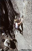 Rock Climbing Photo: Dave Schultz entering the first hard section of Th...